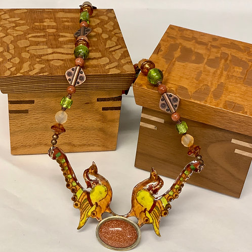 Esther Scroll necklace