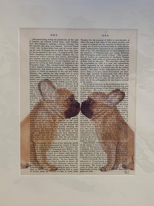 French Kiss French Bulldog Art Print