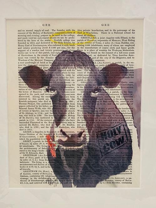 Holy Cow Angel Art Print