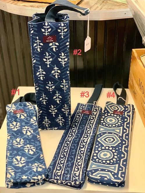 Indigo Hand-dyed Wine Gift Bags