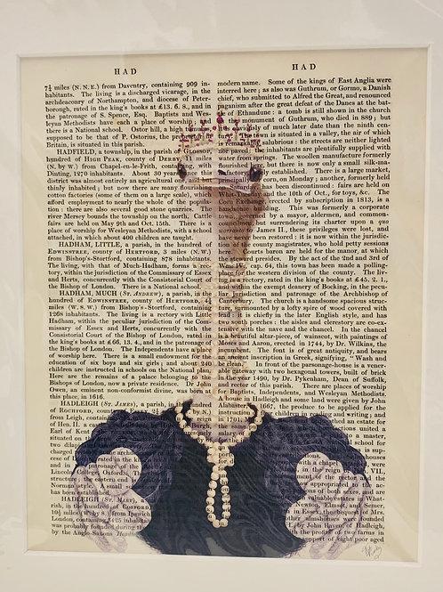 Ostrich in Pearls Art Print