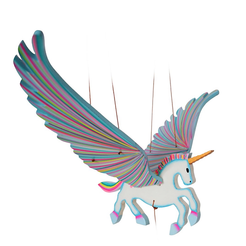 Handcrafted Flying Unicorn Mobile