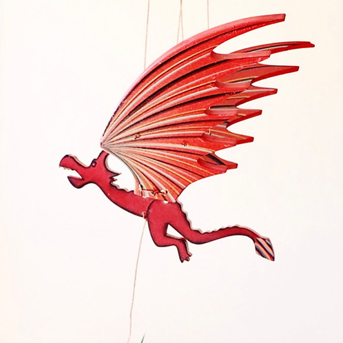 Handcrafted Flying Dragon Mobile
