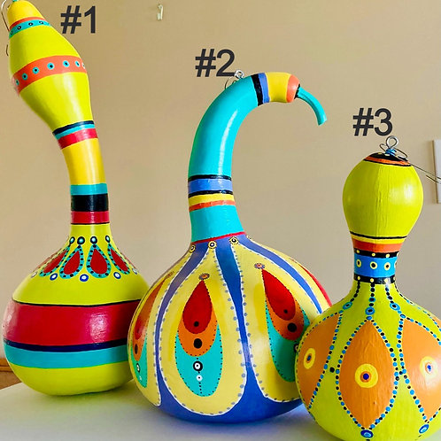 Handpainted Gourds
