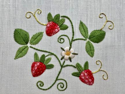 Summer Strawberries  | Stumpwork