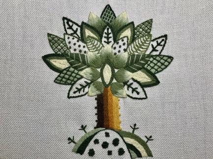 Abigail's Oak Tree | Jacobean Crewelwork