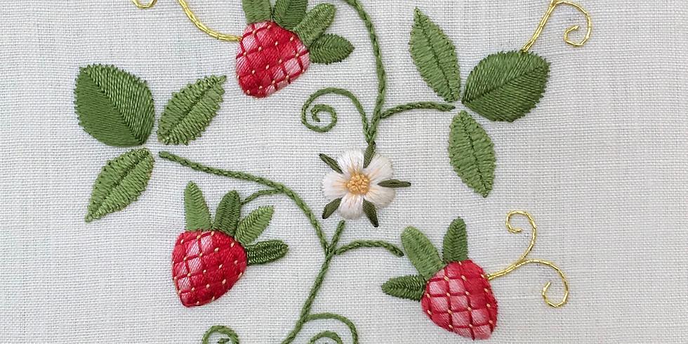 Part 2. Stumpwork 'Summer Strawberries'