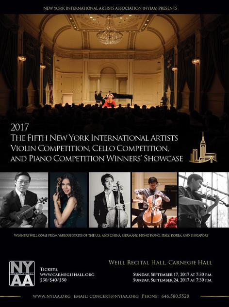 NYIAA 2017 Winners Concert poster