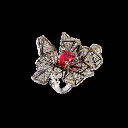 Rubellite Cubism Ring