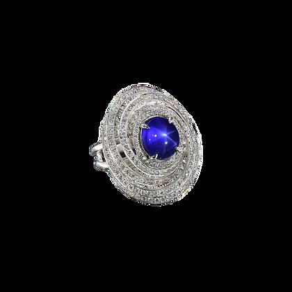Galaxy Star Sapphire Ring