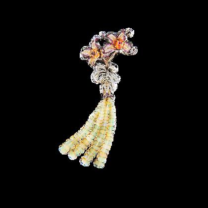 Opal Lily Pendant