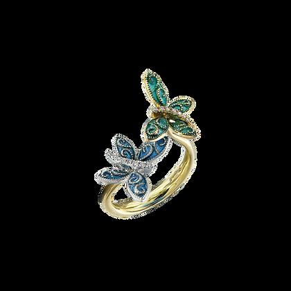 Butterfly Enamel Ring