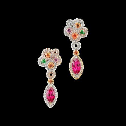 Rubellite Colour Stone Earring