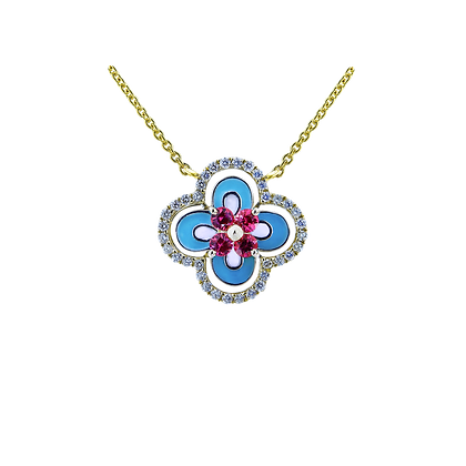 In Europe with Love Enamel Necklace