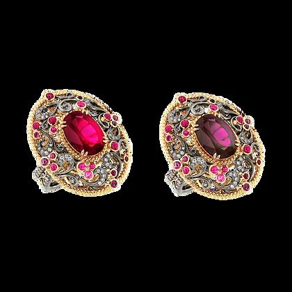 Colour Changing Garnet Ring
