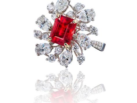 Bixbite - Red Beryl trade call Red Emerald, one of ten rarest gemstones on Earth