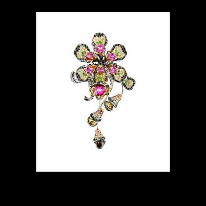 Orchid Pendant Brooch