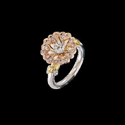 Gerbera Enamel Ring