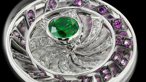 Demantoid Garnet – A highly esteemed garnet with adamantine lustre and amazing 'horsetail' inclusion
