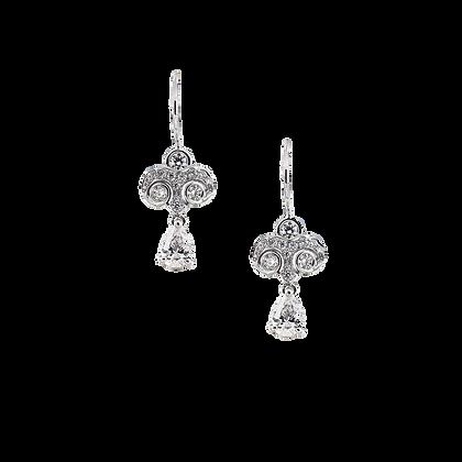 Pear Diamond Earring