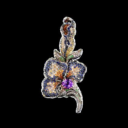 Van Gogh's Iris Brooch Pendant