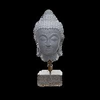 Buddha head - Scultura in pietra lavica
