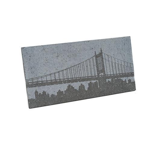 Skyline City - Quadro in pietra lavica