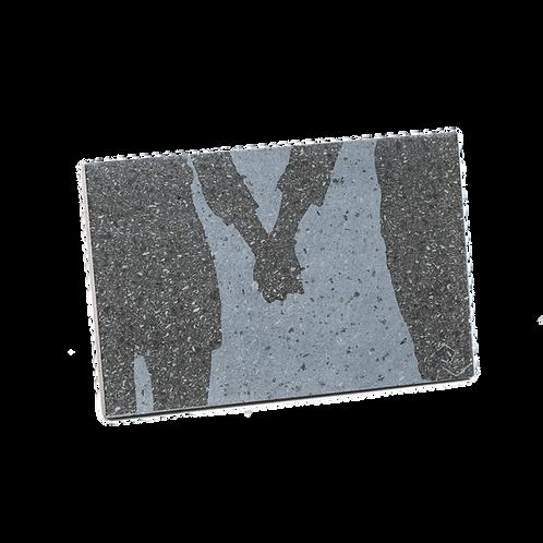 Lovers - Quadro in pietra lavica