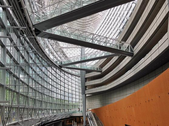 Tokyo International Forum; designed by Rafael Viñoly Architects