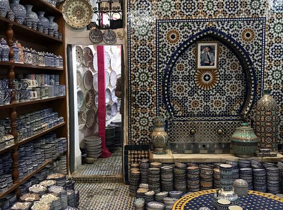 Shopping for Ceramics, Fes