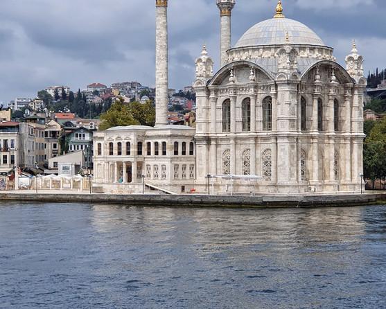Ortaköy Mosque along the Bosphorus River