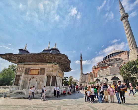 Group at Hagia Sophia
