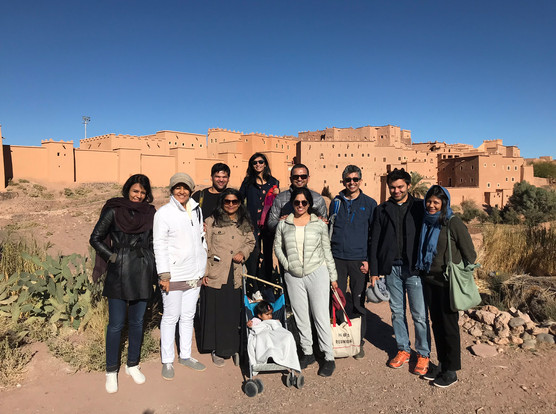 Group at the High Atlas mountains