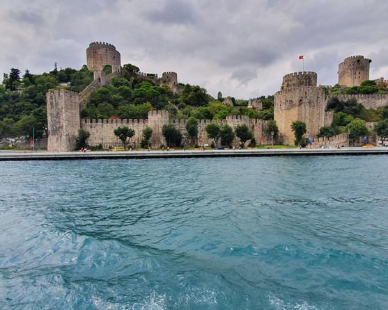 Roumeli Hissar Castle along the Bosphorus River