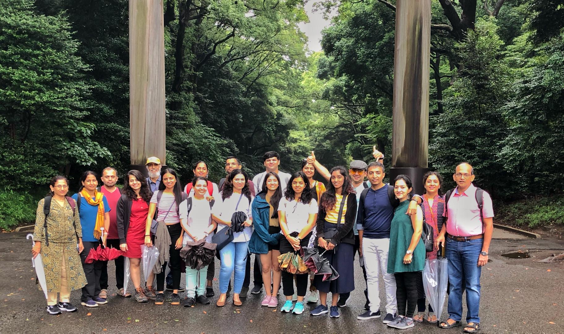 Group at the Meiji Shrine