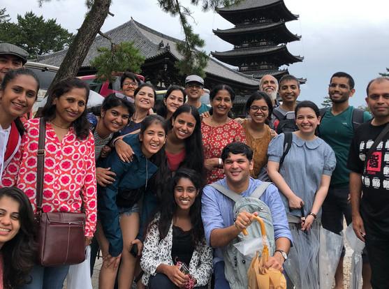 Group at the Kofukuji Temple