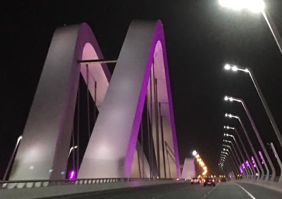 Sheikh Zayed Bridge; designed by Zaha Hadid
