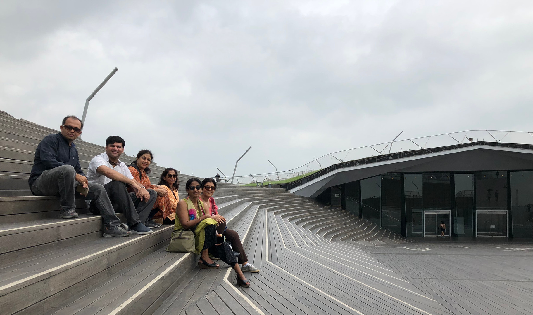 Group at the Yokohama International Passenger Terminal