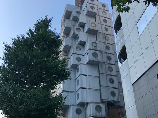 Nakagin Capsule Tower; designed by Kisho Kurokawa