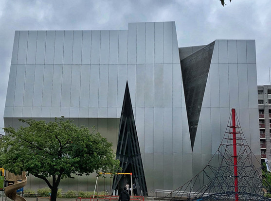 Sumida Hokusai Museum; designed by  Kazuyo Sejima