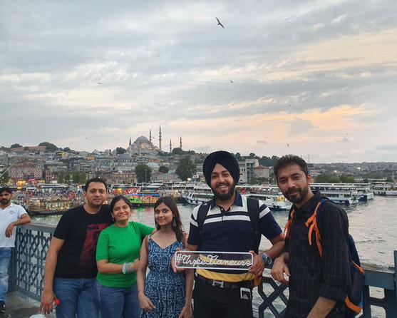 Group near the Bosphorus river