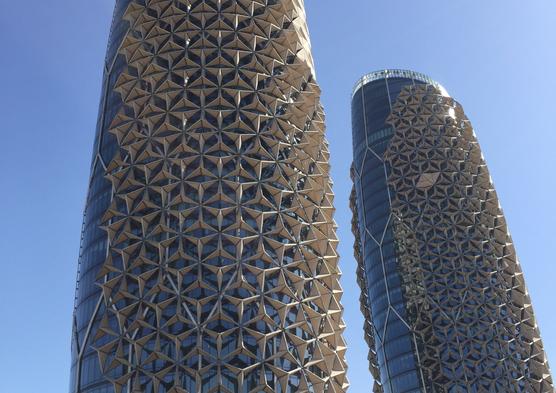 Al Bahr Towers; designed by Aedas