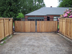 DRIVEWAY GATES WITH WOOD