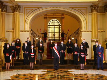 ESPECIALES | Perú: Presidente Francisco Sagasti tomó juramento a su nuevo gabinete Bermúdez