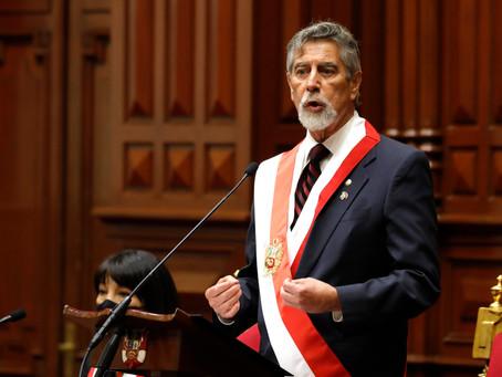 PRONUNCIAMIENTOS   Francisco Sagasti asume Presidencia de la República del Perú