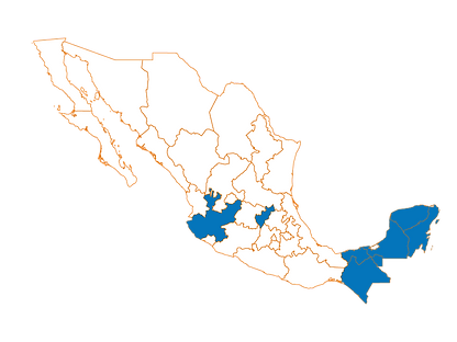 mapa atekar campeche +Монтажная область