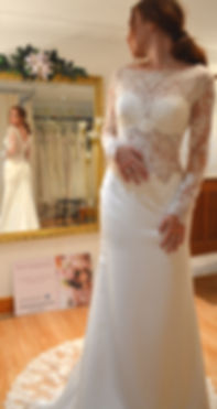 lace fitted edgy sottero and midgley weddingdress fiona rose