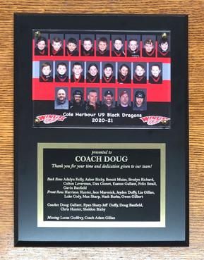 Coach thank you plaque