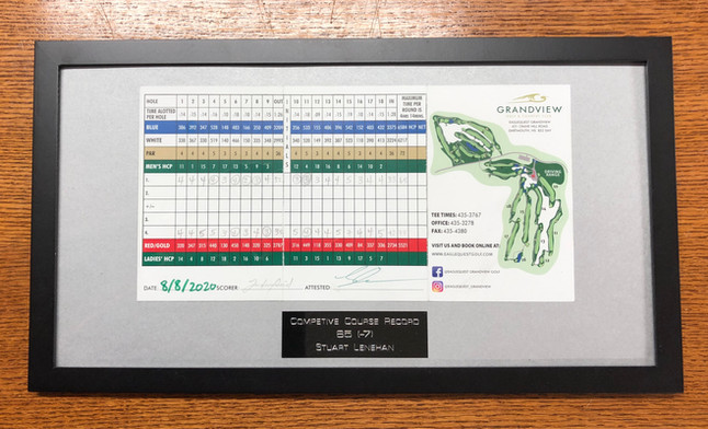 Custom framed plaque, laser engraved pla
