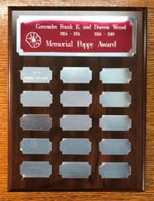 Poppy award annual - red silver brass, r